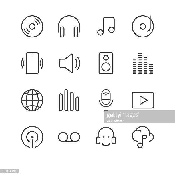 Music and Sounds Icons set 1 | Black Line series