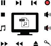 music and  technology symbol