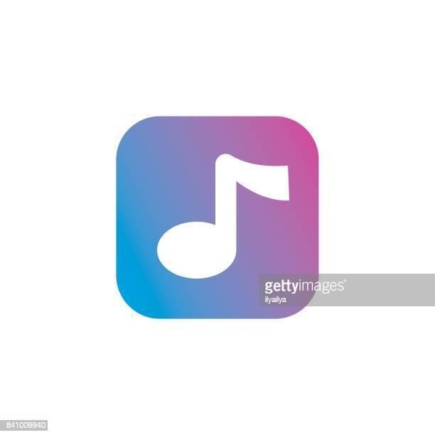 ilustraciones, imágenes clip art, dibujos animados e iconos de stock de música ícono de la aplicación - sistema operativo
