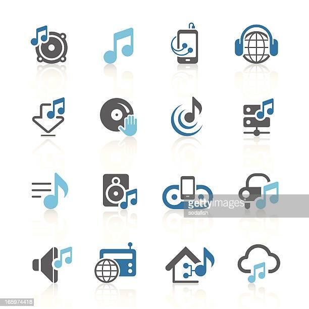Music & audio icons | azur series