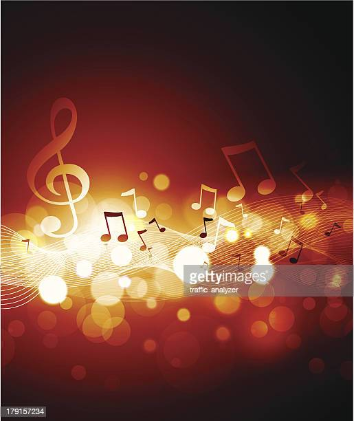 music background - music note stock illustrations, clip art, cartoons, & icons