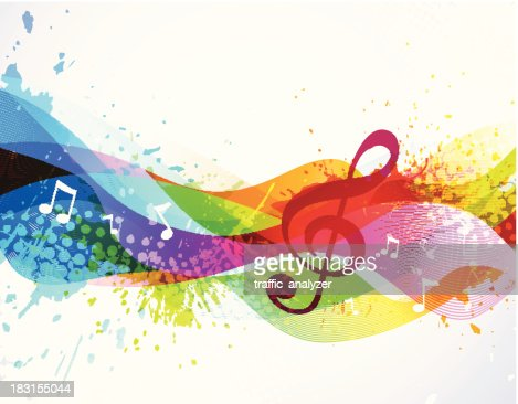 Colorful Music Notes No Background