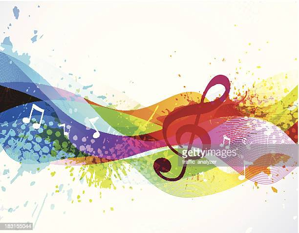music background - treble clef stock illustrations, clip art, cartoons, & icons