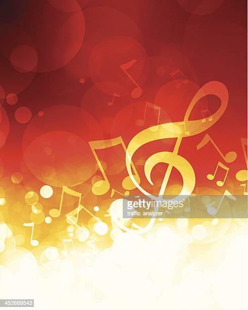 ilustrações, clipart, desenhos animados e ícones de música de fundo - nota musical