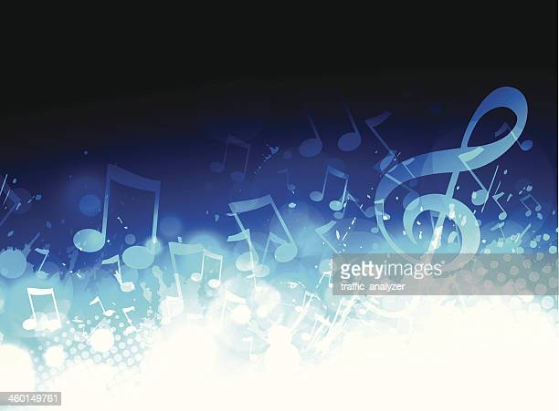 stockillustraties, clipart, cartoons en iconen met music background - muziek