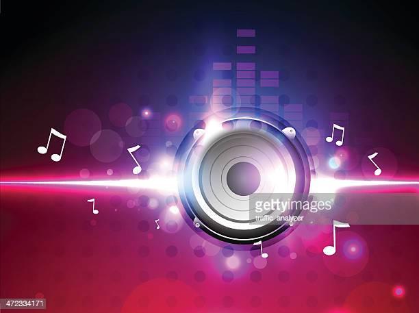 music background - audio equipment stock illustrations, clip art, cartoons, & icons