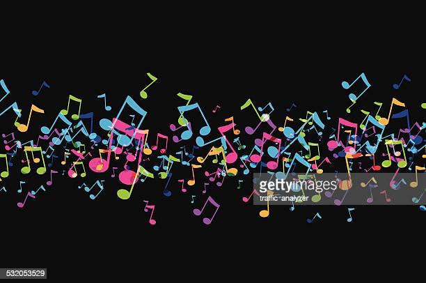 music background - treble clef stock illustrations, clip art, cartoons, & icons