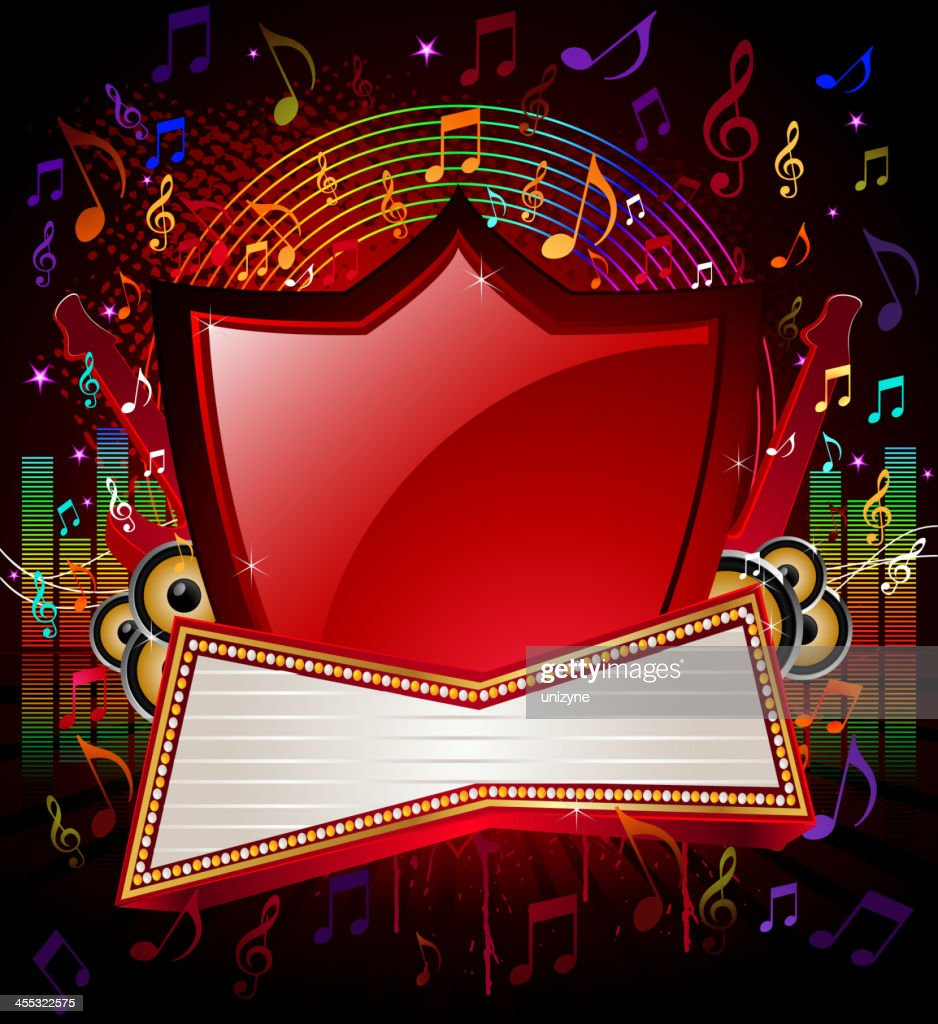 Music Background with Marquee Display