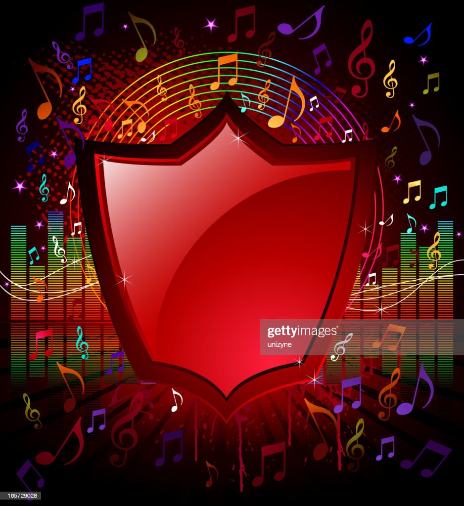 Music Background with Shield