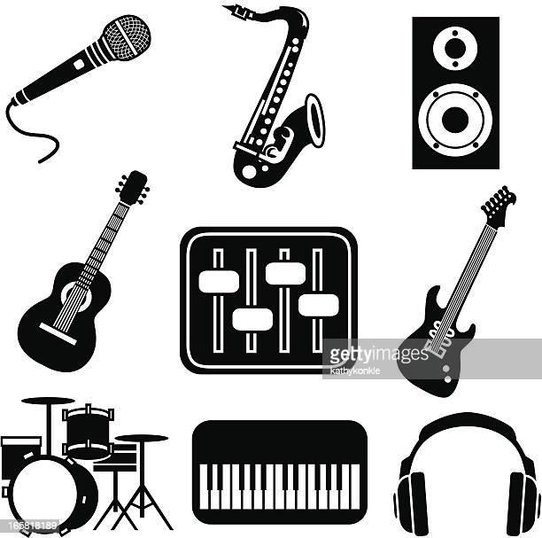 Banda de música iconos de