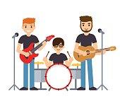 Music band illustration