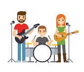 Music band illustration