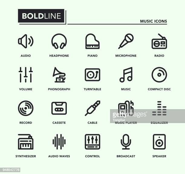 Music Bold Line Icons
