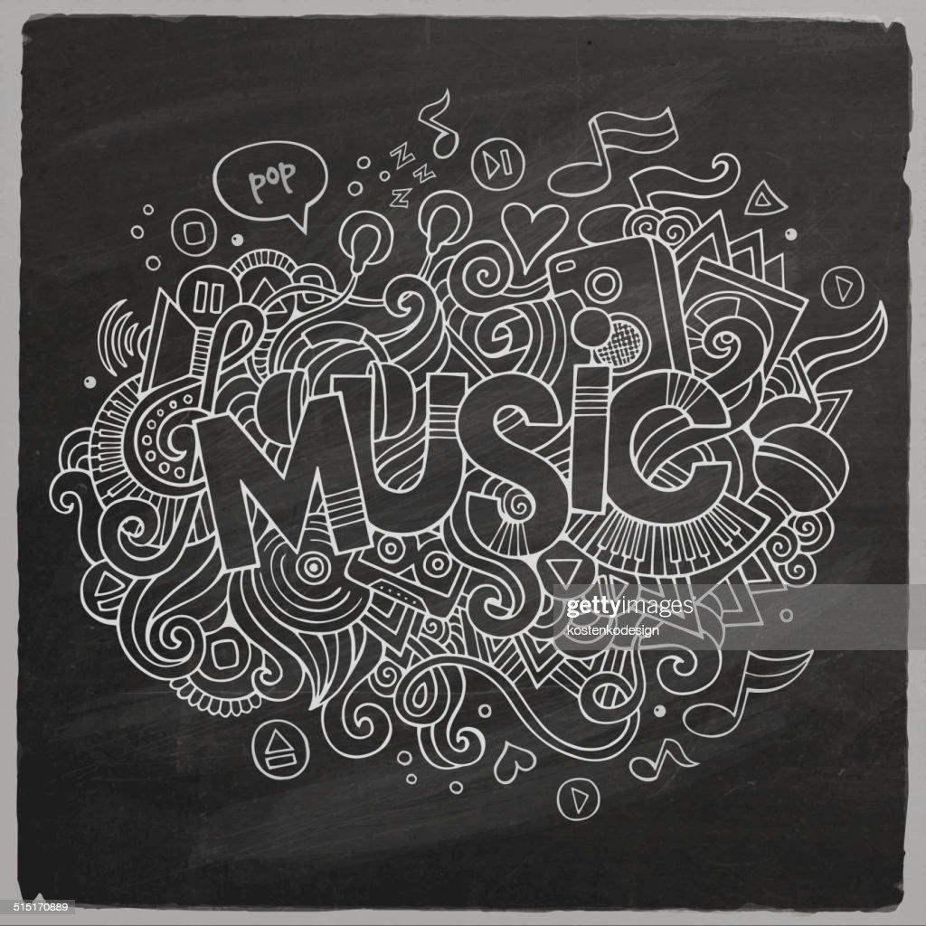 Music chalkboard background
