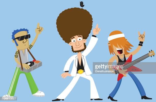 ilustraciones, imágenes clip art, dibujos animados e iconos de stock de música de caracteres - club singer