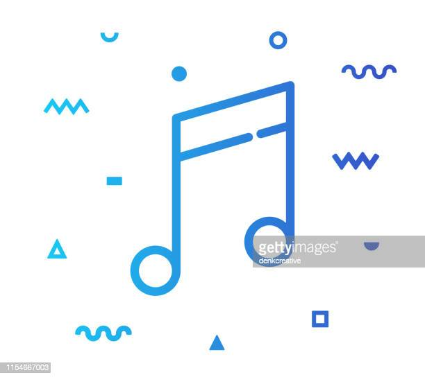 music composing line style icon design - bass clef stock illustrations, clip art, cartoons, & icons