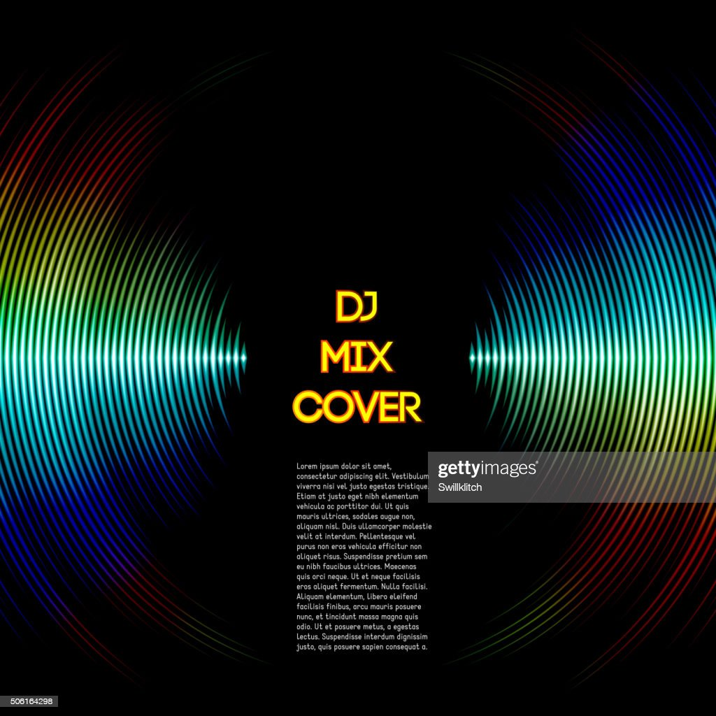 Music cover with waveform as a vinyl grooves