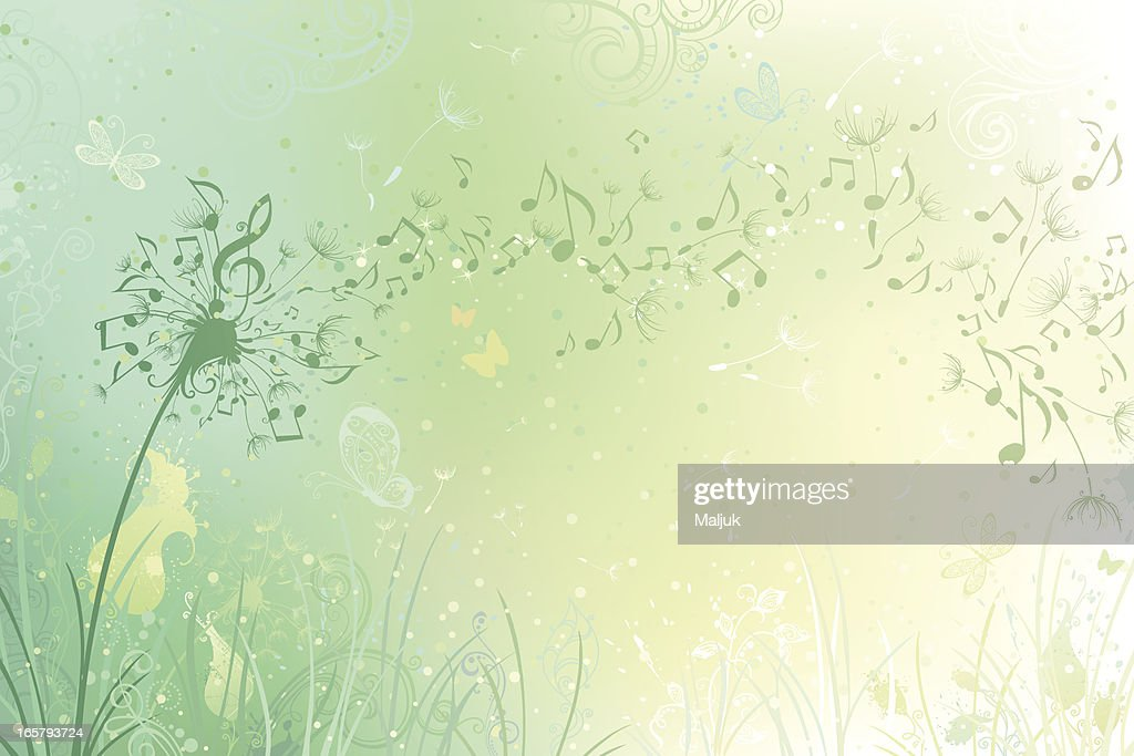 Music dandelion background