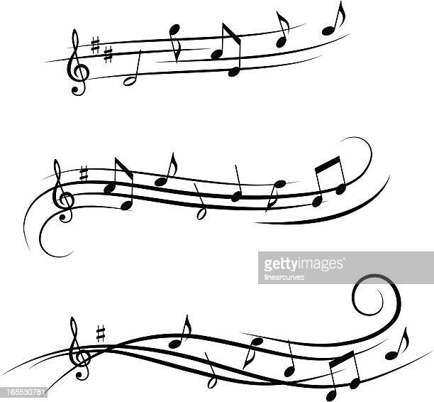 music design elements 4 - treble clef stock illustrations, clip art, cartoons, & icons