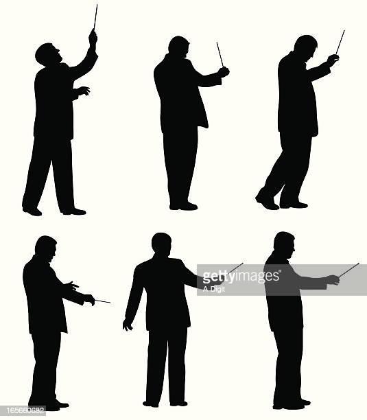 ilustraciones, imágenes clip art, dibujos animados e iconos de stock de musicdirector - director de orquesta