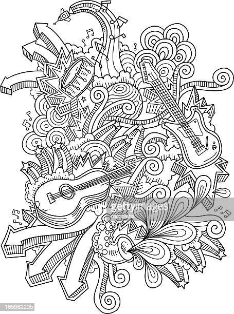 music doodles - chance stock illustrations