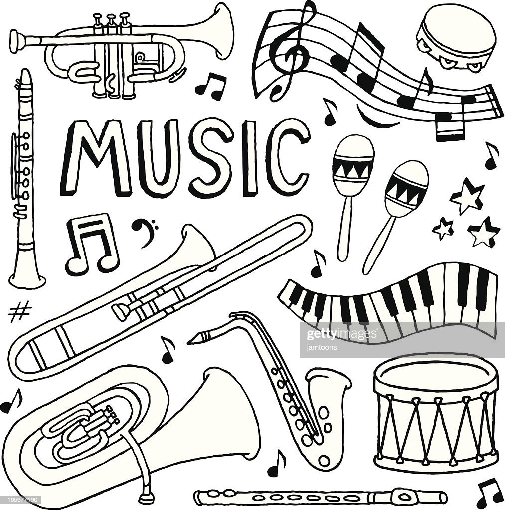 Music Doodles High-Res Vector Graphic - Getty Images