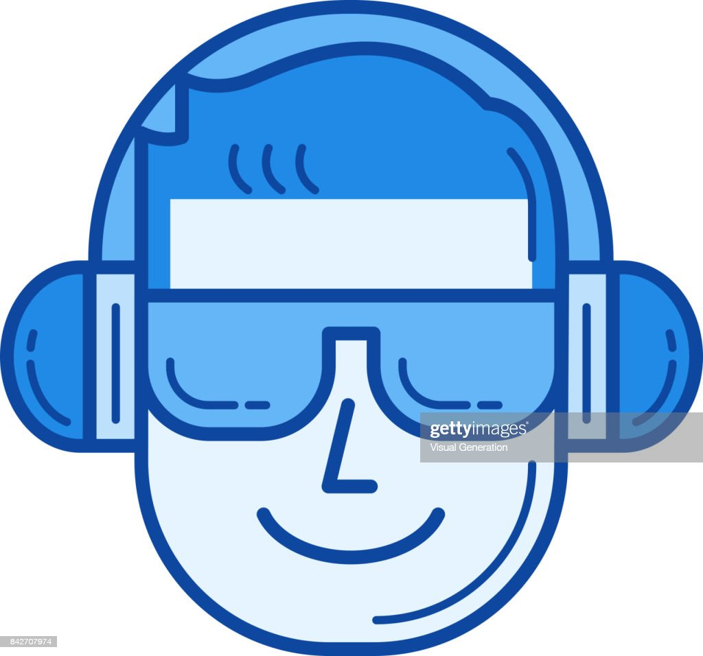 Music fan line icon