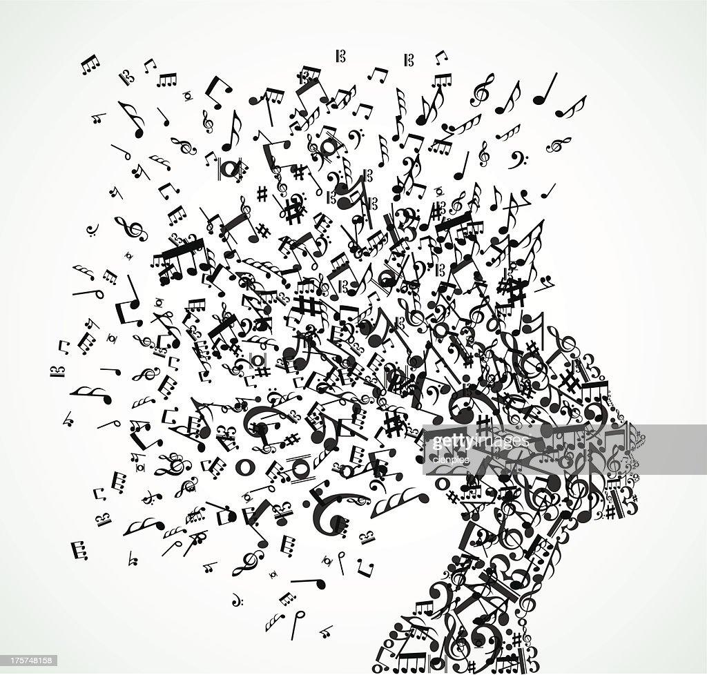 Music fanatic woman