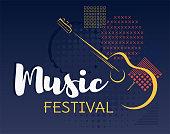 Music festival background vector.