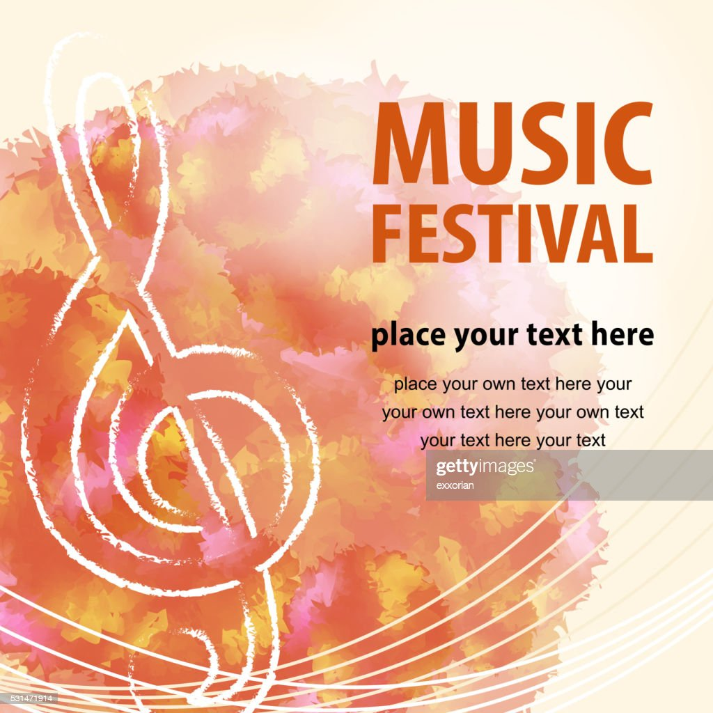 Music Festival Poster : stock illustration