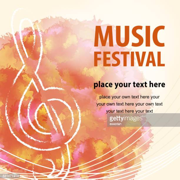 music festival poster - treble clef stock illustrations, clip art, cartoons, & icons