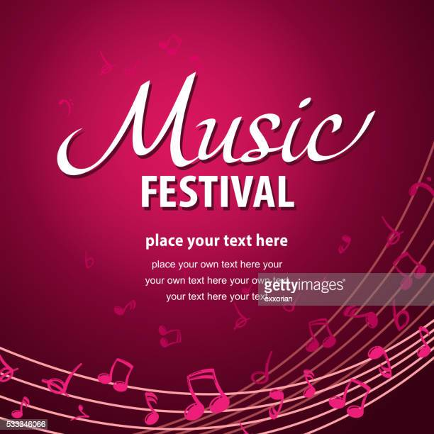 music festival poster - bass clef stock illustrations, clip art, cartoons, & icons