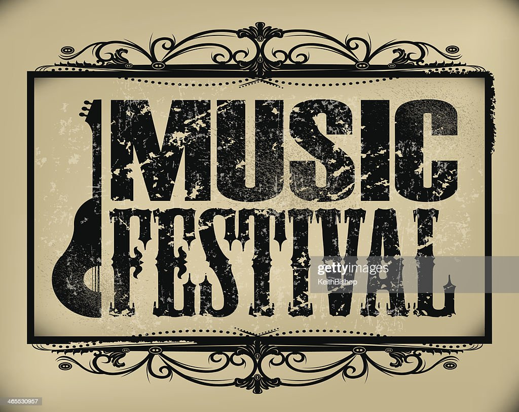 Music Festival Sign - Retro Background