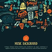 Music festival vector background. Can be used for printable concert