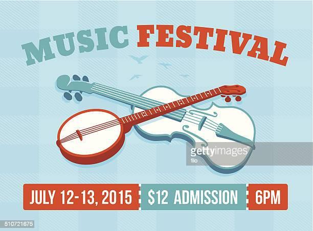 music festival - violin stock illustrations, clip art, cartoons, & icons