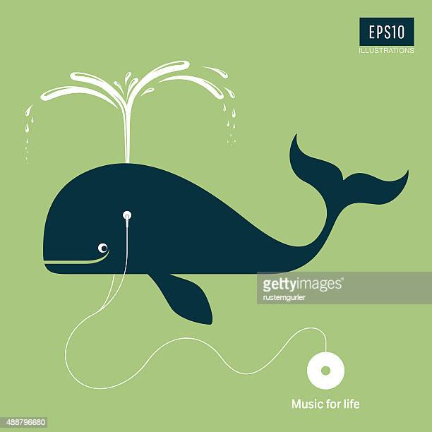 music for life - whales stock illustrations, clip art, cartoons, & icons