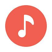 music glyphs flat circle icon