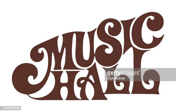 music hall - corridor stock illustrations, clip art, cartoons, & icons