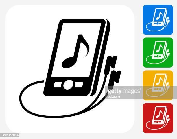 Music Icon Flat Graphic Design