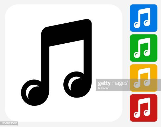 music icon flat graphic design - sheet music stock illustrations, clip art, cartoons, & icons