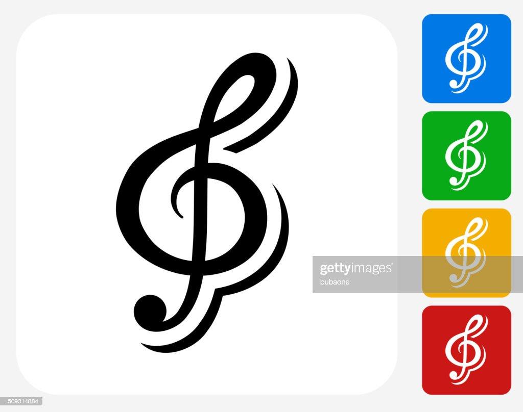 Music Icon Flat Graphic Design : stock illustration