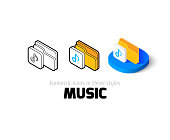 Music icon in different style
