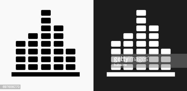 Music Icon on Black and White Vector Backgrounds