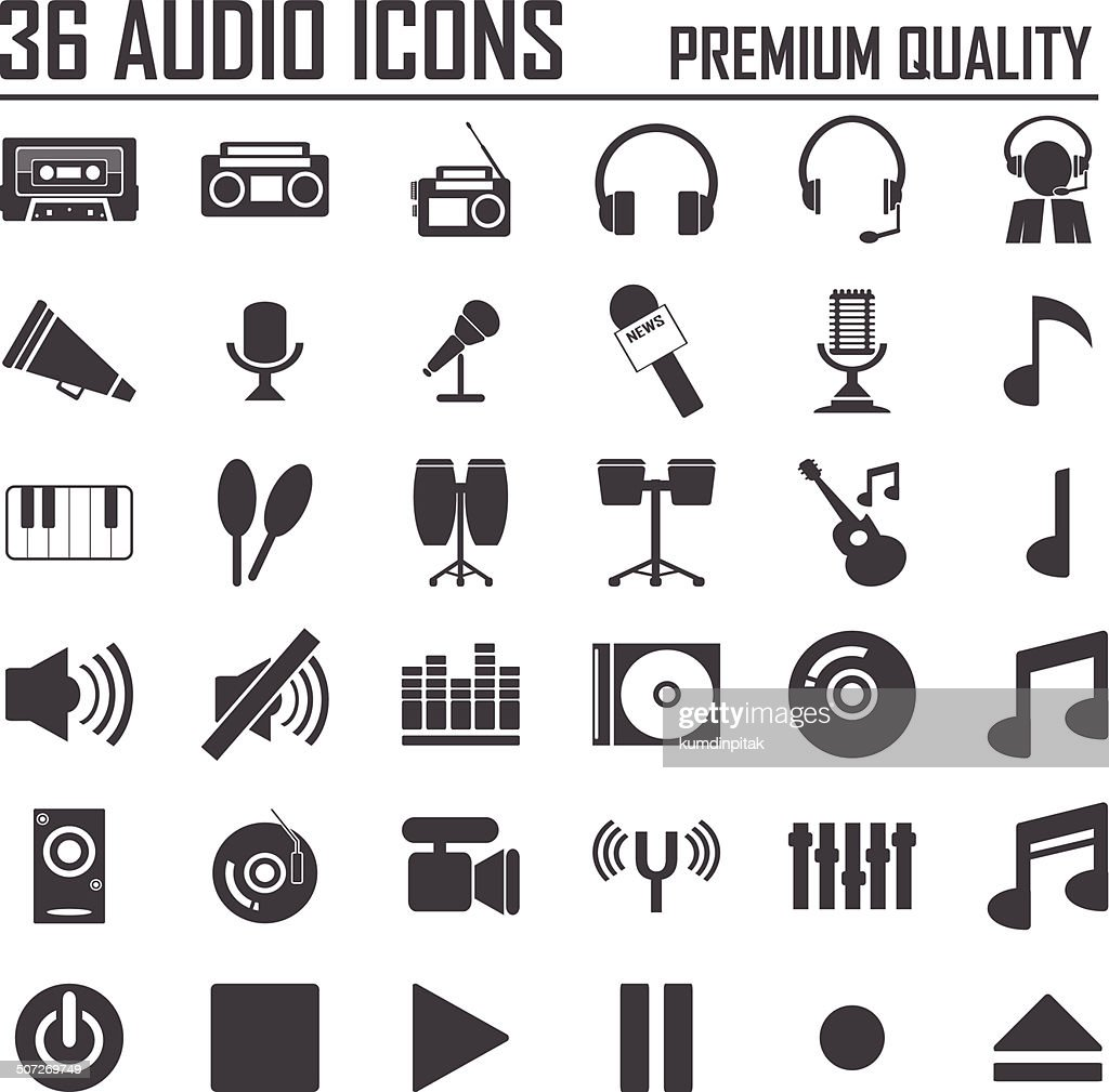 36 Music icon set. Premium Quality