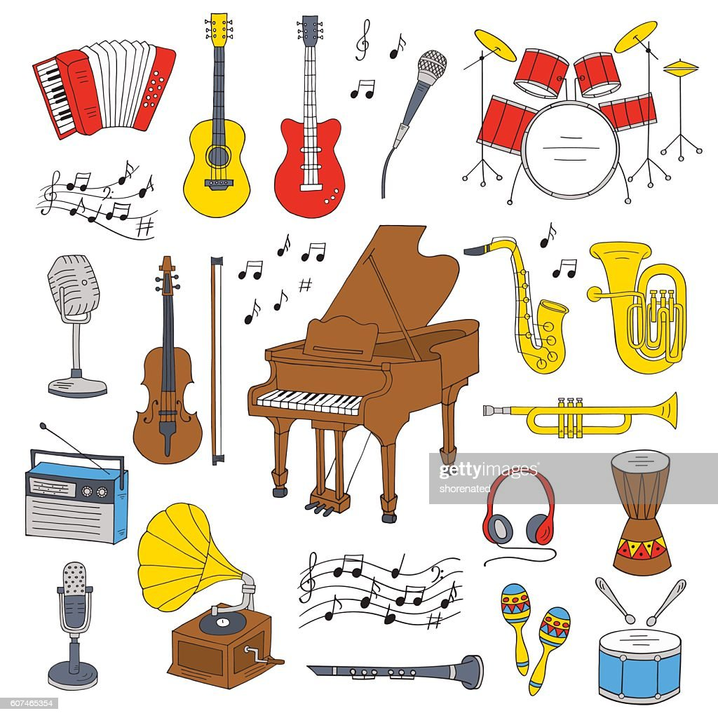 Music icon set vector illustrations.