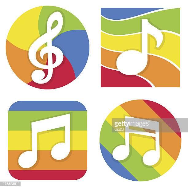 music icon - treble clef stock illustrations, clip art, cartoons, & icons