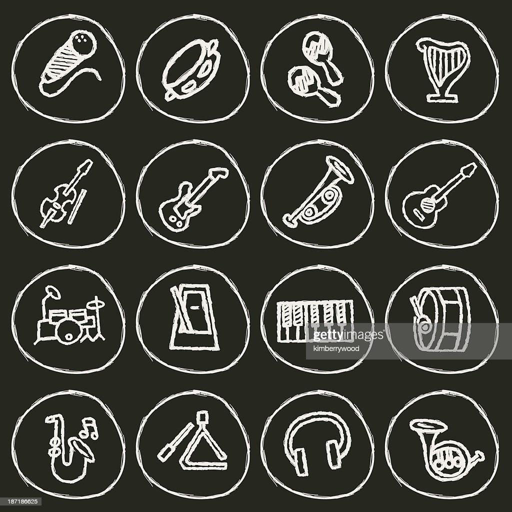 Music Icon : stock illustration