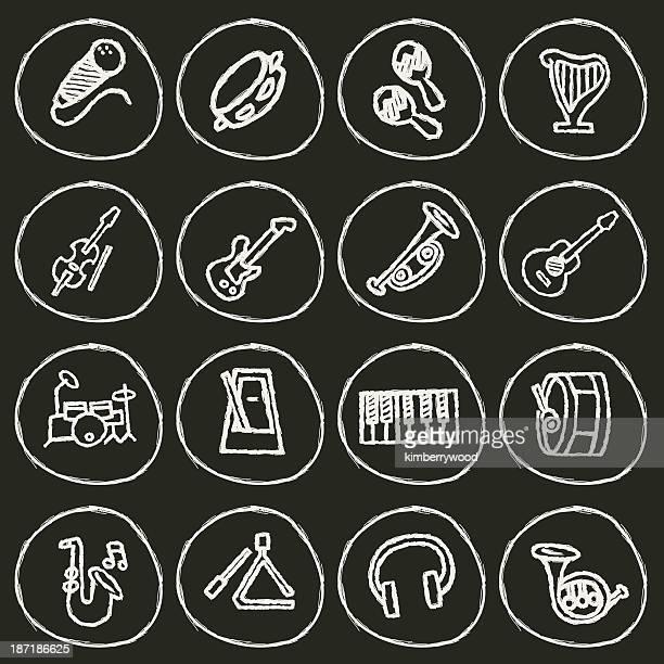 music icon - bass instrument stock illustrations, clip art, cartoons, & icons