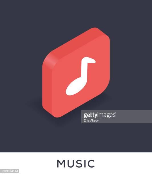 music icon - music symbols stock illustrations, clip art, cartoons, & icons