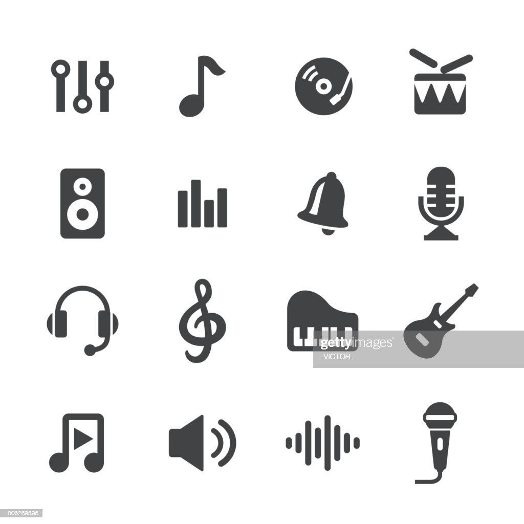 Music Icons - Acme Series : stock illustration